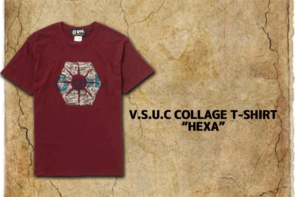 """彼が旅したウルグアイのフォトアーカイブをコラージュし、六角形 """"HEXAGON""""にかたどった作品。"""